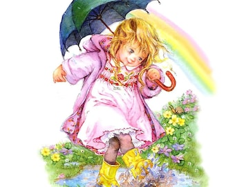 05 girl with umbrella very rare (Russia) 1 towel paper 33 X 33 X 2 pattern