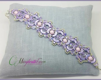 Linda bracelet tutorial. pattern with arcos, minos and swarovski