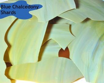 Blue Chalcedony Shards - Lampwork Glass Shards - CoE 96 - 5g