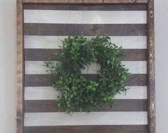 Boxwood wreath sign