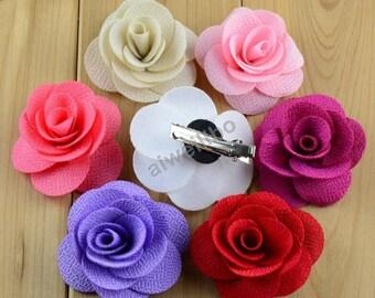 Flower Hair Clip , Rose Hair Clip , baby shower gift, hair clips for girls