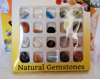 20 stones rolled semi precious stone
