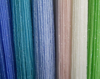 3mm rondelle, 100pcs faceted glass rondell beads in 6 assorted random colors