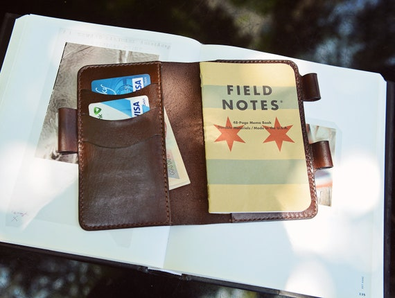 "Hand Sewing Leather Journal Cover For Moleskine Cahier Notebook Pocket Size With Pen Holder 3.5"" X 5.5"" Field Notes Cover Vintage Refillable by Etsy"