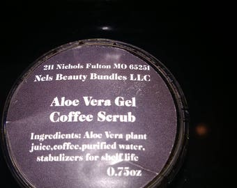 Aloe Vera Gel Coffee scrub