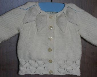 """Mil hojas"" classic vest size 0-1 month special spring summer"