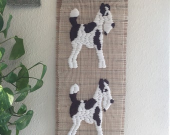 Vintage Two Dog Wall Hanging • Great Dane