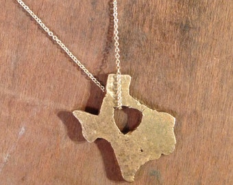 States of Love TEXAS Bronze necklace