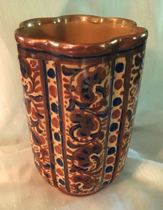 Spanish Vase Made For Ethan Allen Home Accents 8 Tall