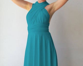 Bridesmaids dress Tailored to Size & Length Bridesmaids dress in pale blue color
