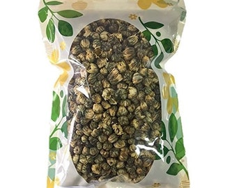 Premium Dried Chrysanthemum Flower Buds, 100% Natural, Premium Quality with No Stems, Food Grade Herbal Tea