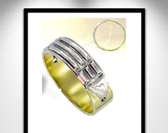 Atlantis Ring green gold and Silver _ ring Atlante Or green and silver