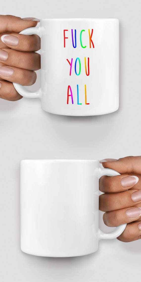 F*ck you all rainbow mug - Christmas mug - Funny mug - Rude mug - Mug cup 4P069
