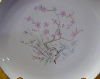 Vintage Sone China Dinner Plate Barbara Pattern White Pink Replacement PanchosPorch