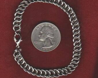 "Half Persian Bracelet Stainless Steel - 7 1/4"" Length"