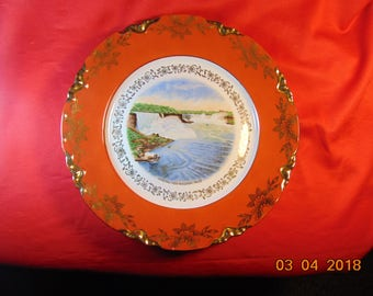 "One (1), 9 5/8"" Diameter, Occupied Germany, US Zone, Souvenir Plate, of Niagara Falls, NY."