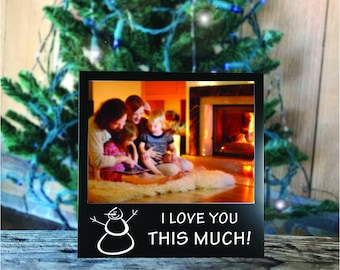 I Love You This Much Snowman Picture Frame