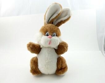 Vintage 70s Pot Belly Bunny Plush, Chubby Bunny Rabbit, Easter Bunny Plush, Bunny Lover Gift, Cute Bunny, Pelushe, Bunny Doll