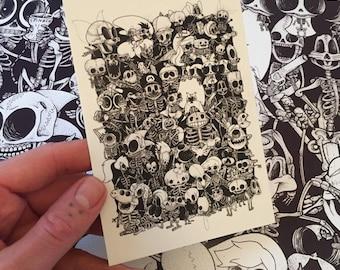 Bare Bones collage postcard