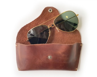 Leather Sunglass Case, Glasses Case,  brown sunglass case, eyeglasses case, custome case