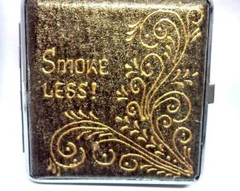 Metal cigarette case retro 100 mm, Metal cigarette case 100 mm, Retro cigarette case, Cigarette case hold, Painted cigarette Case