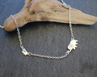 Elephant Elephant necklace or bracelet made of 925 sterling silver also for children