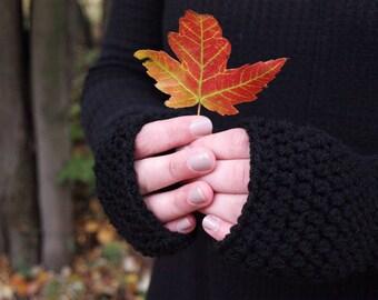 Jane Mitts / Crocheted Fingerless Mitts / Fingerless Mitts / Crochet Texting Gloves / Texting Gloves / Fingerless Gloves / Crochet Mitts