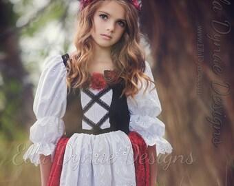 Little Red Riding Hood Costume Princess Peasant Dress