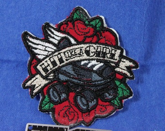 """Roller Derby """"Hit like a girl"""" patch"""
