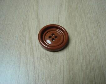 vintage Brown round shape button