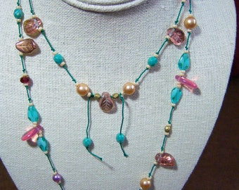 Hand Knotted Czech beads - Necklace