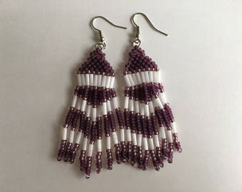 Native beaded earrings, American style, various colours
