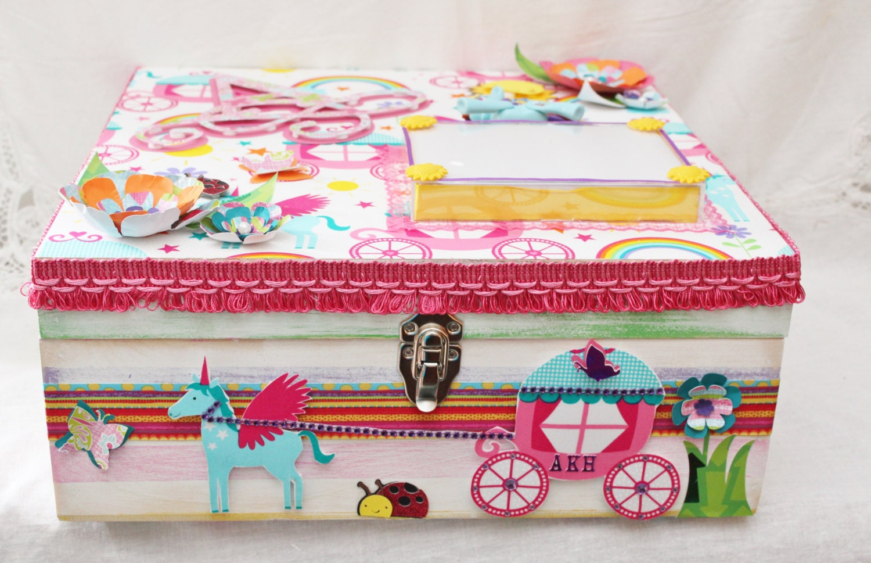 custom wood box girl memory box baby custom box baby. Black Bedroom Furniture Sets. Home Design Ideas