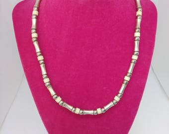 Tribal Necklace made of African silver metal