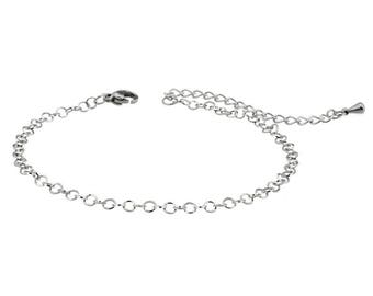 Stainless steel bracelet set with 2 bracelets one with charm avocado with heart shaped pit and one with an avocado charm heart shaped hole