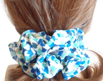 scrunchies scrunchy scrunchie Blue hair  Scrunchie  ,Chouchou, hair accessories, handmade by ScrunchiesCo