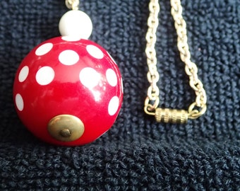 Red & White Polka Dot Necklace