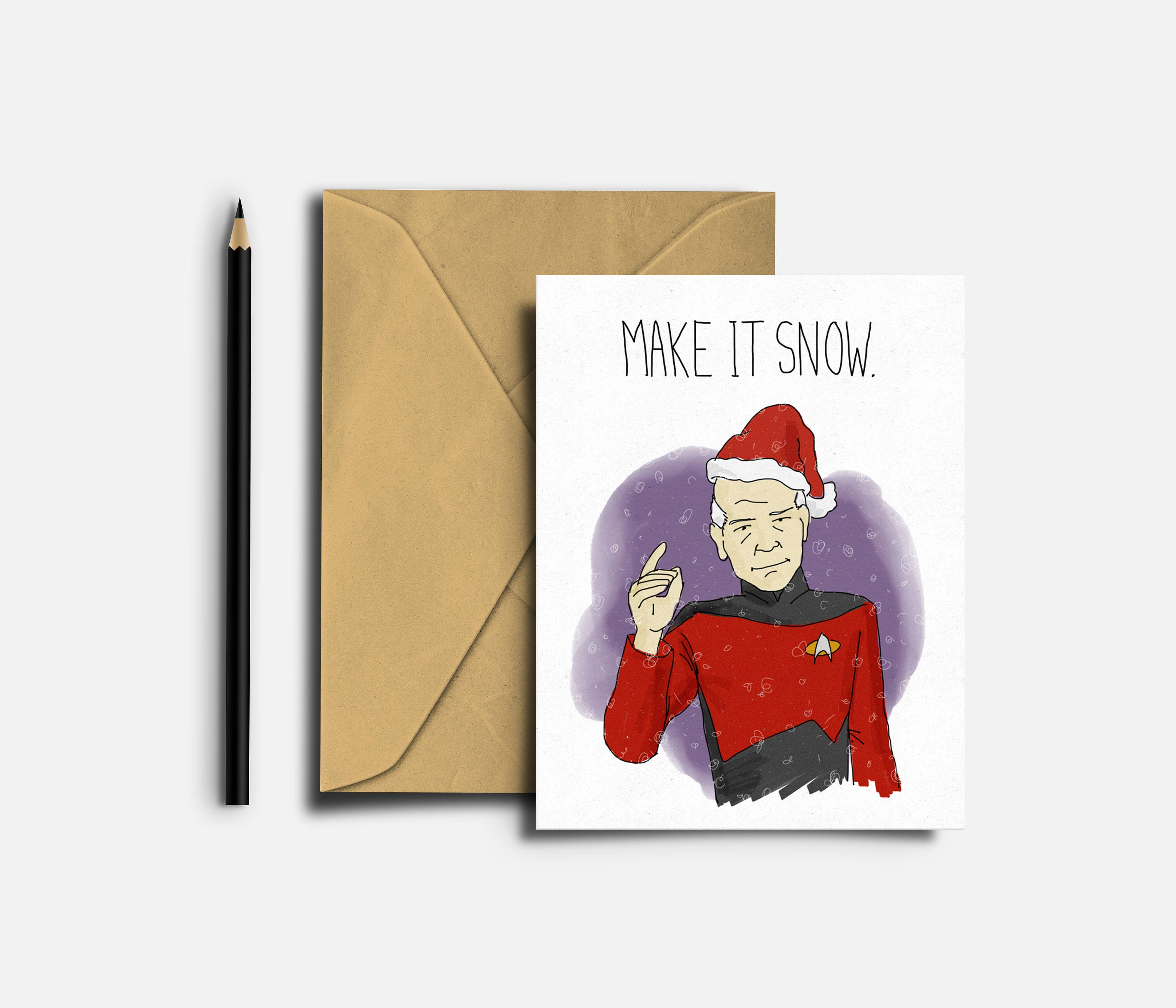 Star trek christmas card captain picard jeac luc picard zoom kristyandbryce Images