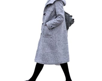 Fashion thick warm wool maxi coat