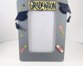Graduation Picture Frame, High school Graduation Gift, Graduation Photo Frame, Graduation Frame, Grad Gifts, Gifts for Graduation