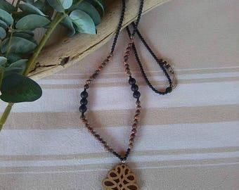 Leopard Jasper gemstone necklace