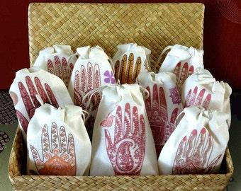 Mehndi Lavender Wedding Sachet Favors | South Asian | Indian Bridal Shower Henna Party | Mehendi Ceremony Favor | Bridal Gifts | Shaadi 24