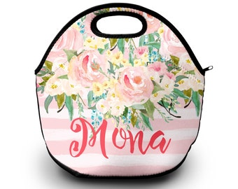 Monogram Lunch Bag, Personalized Lunch Tote | Lunch Bag for Women