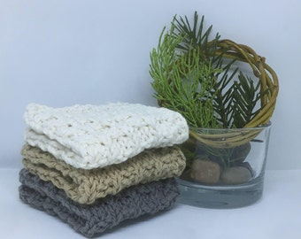 Knit Cotton Multi-Cloths, Dishcloths, Facecloths