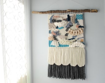 Large Textured Wall Weaving | Loom | Wall Hanging | Tapestry