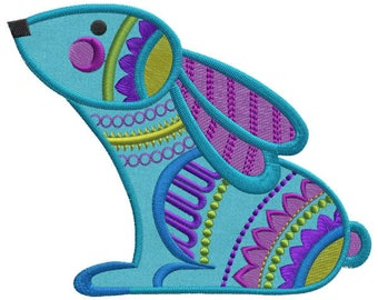 Hippity Hoppity Boho Bunnies - Machine Embroidery