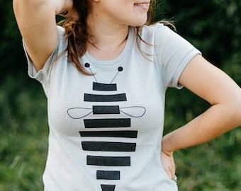 Honey Bee Shirt Gift for Mom, Insect Nature Lover Tshirt Women, Entomology Gift for Gardener, BlackbirdSupply