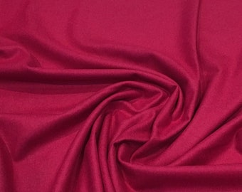 Magenta pink wool fabric