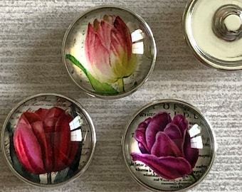 Tulip 20mm Snap Charms