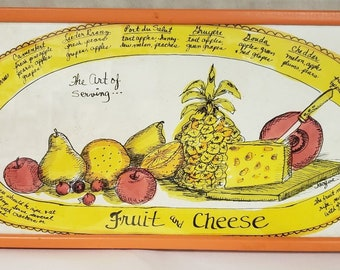 The Art of Serving Fruit and Cheese by Jacque for Soovia Janis 1968